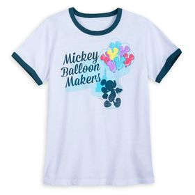 Disney Mickey Mouse Balloons Ringer T-Shirt for Wo
