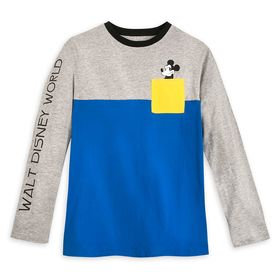 Disney Mickey Mouse Color Block Long Sleeve T-Shir