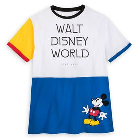 Disney Mickey Mouse Color Block Ringer T-Shirt for