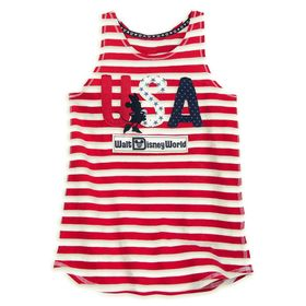 Disney Minnie Mouse Americana Tank Top for Girls –