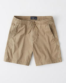 Pull-On Shorts, LIGHT KHAKI
