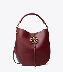 Tory Burch miller metal-logo slouchy hobo main