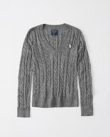 Icon Cable Knit Sweater, DARK RED