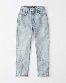 Curve Love High Rise Mom Jeans, LIGHT WASH