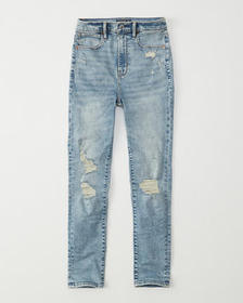 Ultra High Rise Ankle Jeans, LIGHT RIPPED WASH