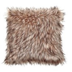"CATHERINE MALANDRINO Faux Fur Throw Pillow 18"" X 1"