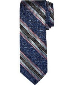 Jos Bank Reserve Collection Textured Stripe Tie CL