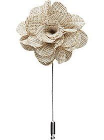 Esquire Taupe Flower Lapel Pin