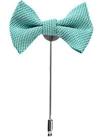 Esquire Green Houndstooth Bow Tie Lapel Pin