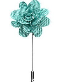 Esquire Green Houndstooth Floral Lapel Pin