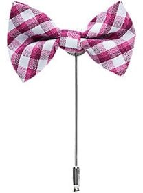 Esquire Pink Check Bow Tie Lapel Pin