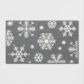"""1'8""""X2'10"""" Snowflake Accent Rug Gr"""