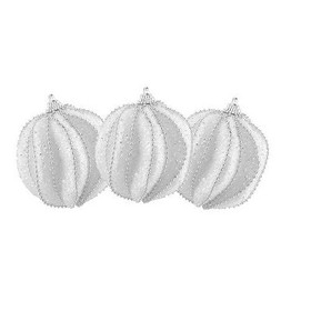 Northlight 3ct White and Silver Sliced Beaded and
