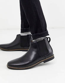 French Connection leather chelsea boot