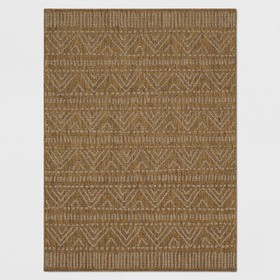Marked Stripe Outdoor Rug Tan - Opalhouse™