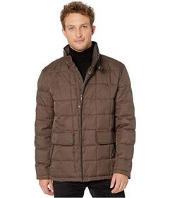 Cole Haan Box Quilt Jacket w\u002F Faux Leather Tr