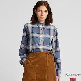 WOMEN FLANNEL CHECKED LONG-SLEEVE TUNIC (JW ANDERS