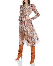 LINI - Erica Floral Paisley Midi Dress - 100% Excl