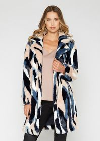 Lauren Multi Faux Fur Coat