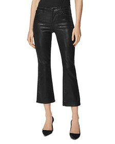 J Brand - Selena Coated Cropped Bootcut Jeans in G