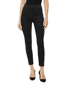 J Brand - Lillie High Rise Cropped Leopard-Printed