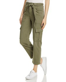 7 For All Mankind - Cropped Cargo Jeans in Fatigue