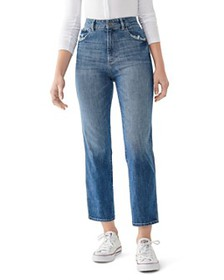 DL1961 - Jerry Cropped Straight-Leg Jeans in Linde