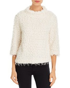 VINCE CAMUTO - Textured Fringe Sweater