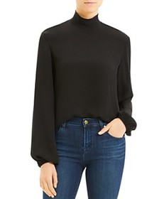 Theory - Silk Mock-Neck Top