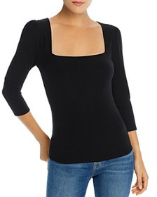 7 For All Mankind - Square Neck Knit Top