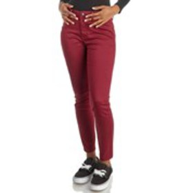 Slimming Solid High Waist Skinny Jeans