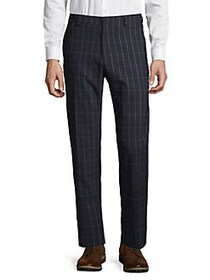 Tommy Hilfiger Windowpane Ankle Pants NAVY GREEN