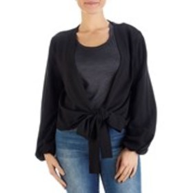 BEBE Tie Front Crop Cardigan Sweater