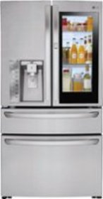 LG - 22.5 Cu. Ft. French InstaView Door-in-Door Co