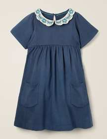 Boden Embroidered Collar Dress