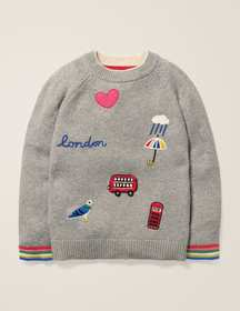 Boden Embroidered Badge Sweater
