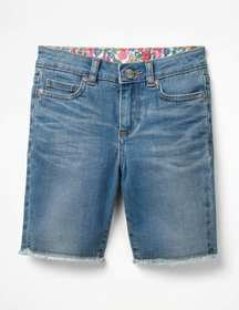 Boden Long Denim Shorts