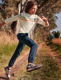 Boden Rainbow Stripe T-shirt
