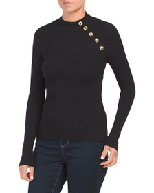 PHILOSOPHY Long Sleeve Ribbed Pullover Sweater