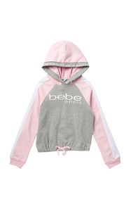 bebe Fleece Pullover Hoodie (Big Girls)
