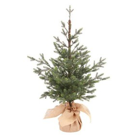3ft Pre-lit Slim Artificial Christmas Tree Potted