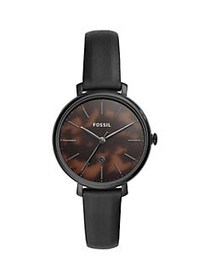 Fossil Jacqueline Stainless Steel & Leather-Strap