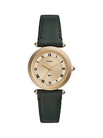 Fossil Lyric Goldtone Stainless Steel & Leather-St
