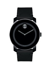 Movado BOLD Black TR90, Stainless Steel & Cognac C