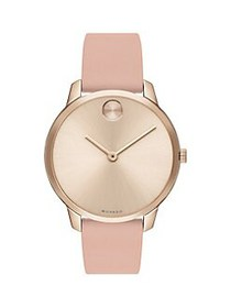 Movado BOLD Ionic-Plated Carnation Goldtone & Pink