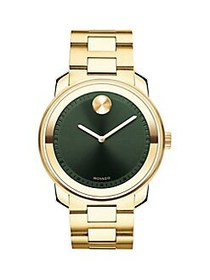 Movado BOLD Stainless Steel Watch GOLD