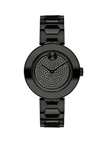 Movado BOLD Crystal Dial Black Ion-Plated Stainles