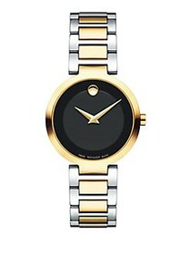 Movado Modern Classic Two-Tone Round Case Stainles