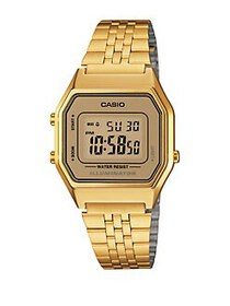 Casio Goldtone Vintage Digital Bracelet Watch GOLD