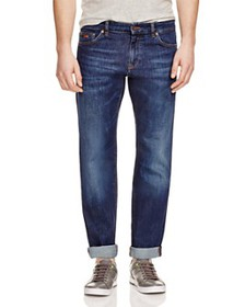 BOSS - Maine Stretch Straight Fit Jeans in Indigo